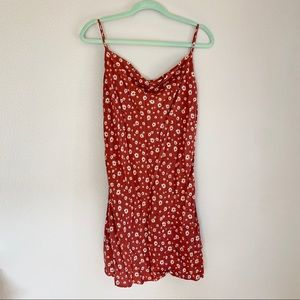 Perfect red floral summer dress